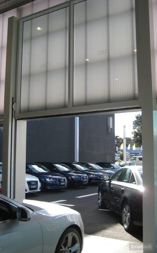 Smartech Uplift Door in a Audi showroom